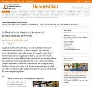 Handelsblatt Master of Arts-Taxation