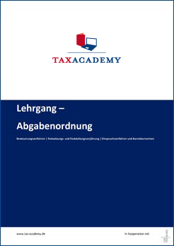 Infomaterial Lehrgang Abgabenordnung