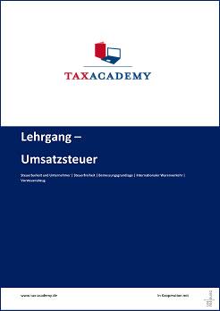 Infomaterial Lehrgang Umsatzsteuer