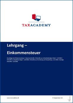 Infomaterial-Lehrgang Einkommensteuer