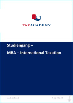 Infomaterial MBA International Taxation