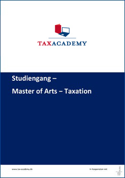 Infomaterial Master of arts taxation