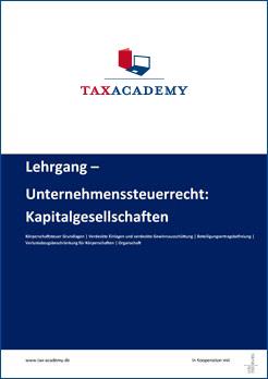 Infomaterial Unternehmenssteuerrecht Kapitalgesellchaften