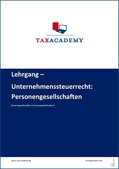Infomaterial Unternehmenssteuerrecht Personengesellschaft